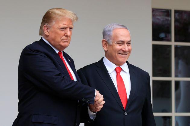 Donald Trump et Benjamin Netanyahu, ici à la Maison Blanche à Washington le 25 mars