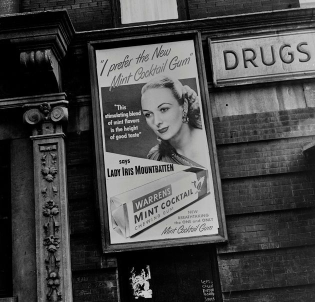 Lady Iris Mountbatten posed for this Warrens chewing gum advertisement, pictured in Toronto on July 23,