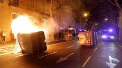 Vuelven los disturbios a Barcelona: barricadas y enfrentamientos con los