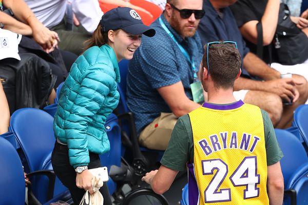 A spectator at the Australian Open seen wearing a Kobe Bryant jersey on Jan. 27.