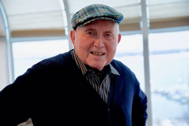 Pinchas Gutter, 87, in his Toronto home on Jan. 23,