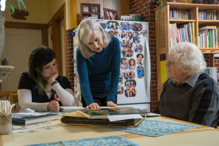 Holocaust survivor David Schaffer is working with University of Victoria Prof. Charlotte Schallie, centre, and artist Miriam Libicki to create a graphic novel about his experience.