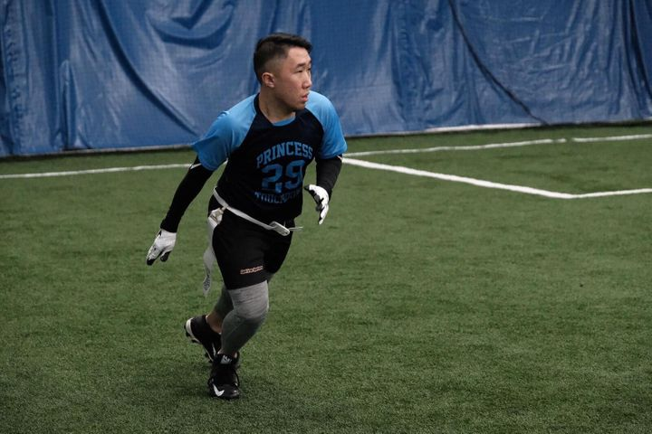 Alex Wong has played as a receiver in the Toronto Gay Football League for two seasons.