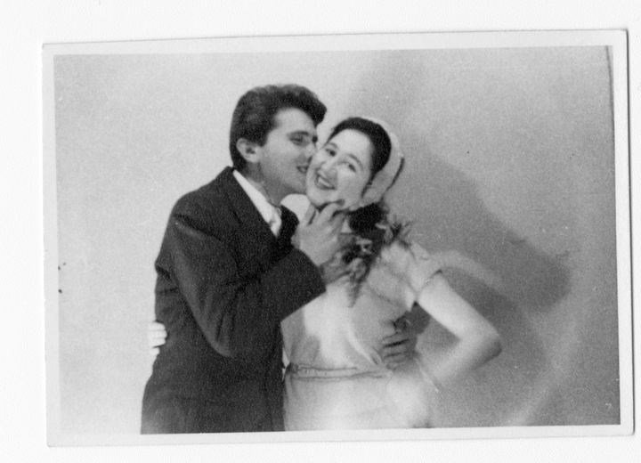 Pinchas and Dorothy Gutter on their wedding day in London on Jan. 6, 1957.
