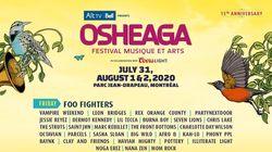 Toute la programmation d'Osheaga 2020 est