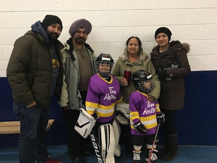 Thanks to Sahni and his sons' eagerness, Sahni's family now has three generations of ice hockey lovers.
