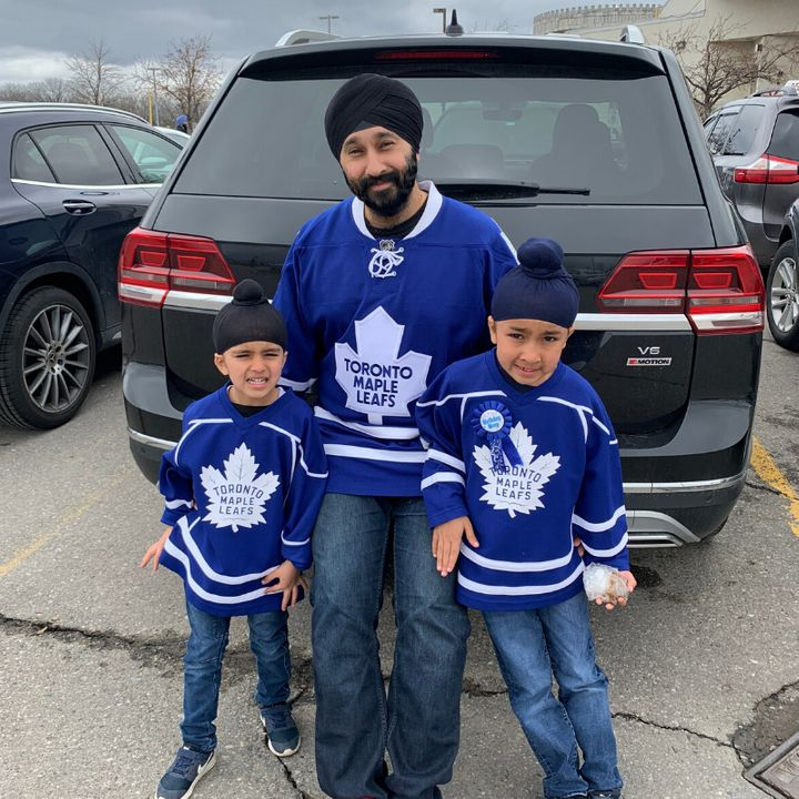 Bobby Sahni, along with his sons Rayhaan and Jordan, are regulars on the ice.