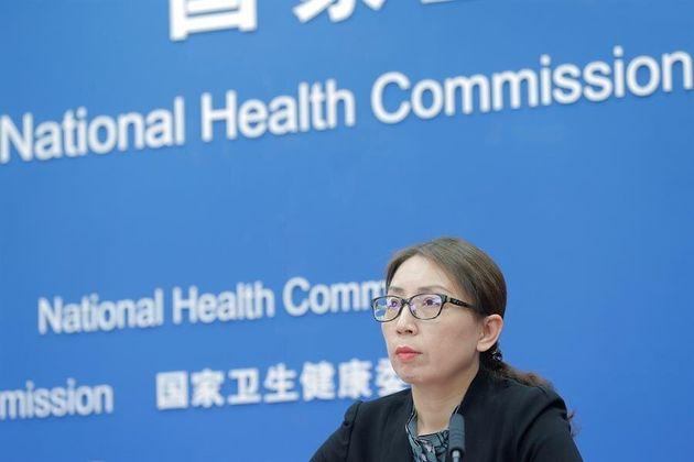 Jiao Yahui, subdirectora de la Oficina de Políticas Médicas y Administración de la Comisión Nacional...