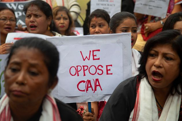 A protest against the Citizenship Amendment Act in Gauhati, January 19,