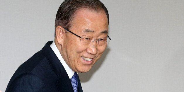 반기문 전 유엔사무총장이 31일 서울 마포 트라팰리스에서 열린 기자회견에 참석하고