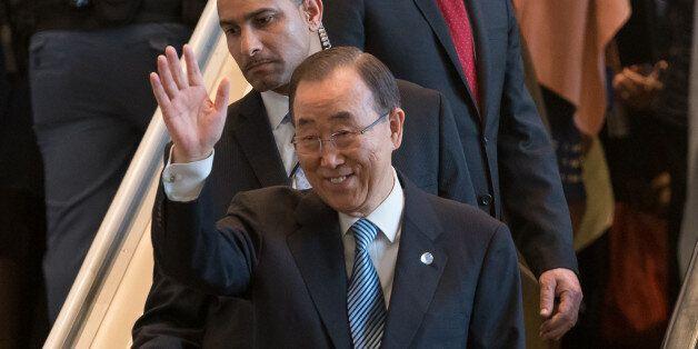 UN HEADQUARTERS, NEW YORK, NY, UNITED STATES - 2016/12/30: United Nations Secretary-General Ban Ki-moon...