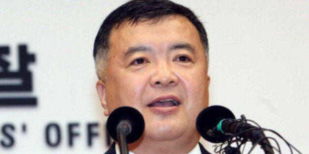 이인규 전 대검 중수부장이 2009년 7월 14일 오전 서울 서초동 대검청사에서 열린 퇴임식에서 퇴임사를 하고