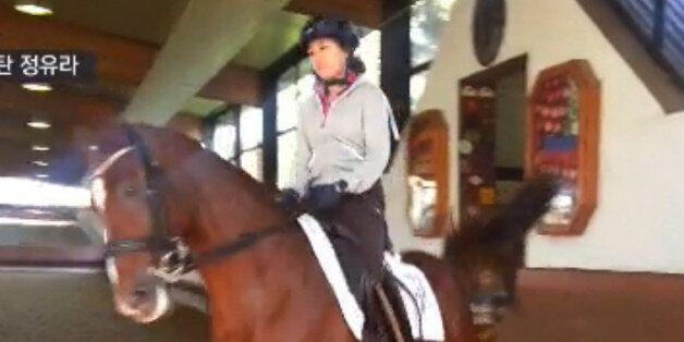 최순실 씨 딸 정유라 씨가 지난 해 9월 독일 카셀만 승마학교에서 연습을 하는 동영상을 SBS가 20일