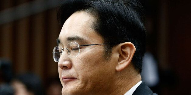 SEOUL, SOUTH KOREA - DECEMBER 06: Lee Jae-Yong, vice chairman of Samsung answers questions during a parliamentary...