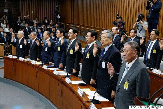 대기업 총수들이 출석한 '최순실 국정조사' 1차 청문회에 대한 트위터 이용자들의