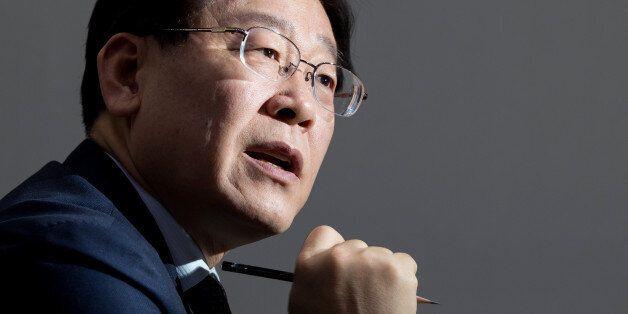 Lee Jae-myung, mayor of Seongnam city, speaks during an interview in Seongnam, South Korea, on Wednesday,...