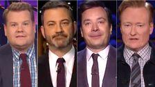 Δάκρυα Και Γέλια: Kimmel, Fallon Οδηγήσει Ισχυρή Νυχτερινή Αφιερώματα Σε Κόμπε Μπράιαντ