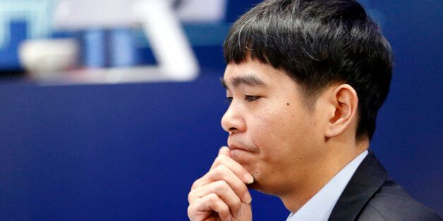 South Korean professional Go player Lee Sedol waits for the third match of the Google DeepMind Challenge...