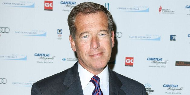 FILE - This Sept. 11, 2012 file image released by Starpix shows Brian Williams at the Cantor Fitzgerald...