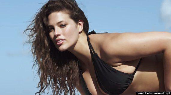 '플러스 사이즈' 모델, 섹시한 수영복 광고를 찍다!(사진,