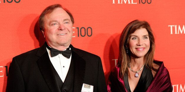 FILE - In this April 24, 2012 file photo, Continental Resources CEO Harold Hamm and his then wife Sue...