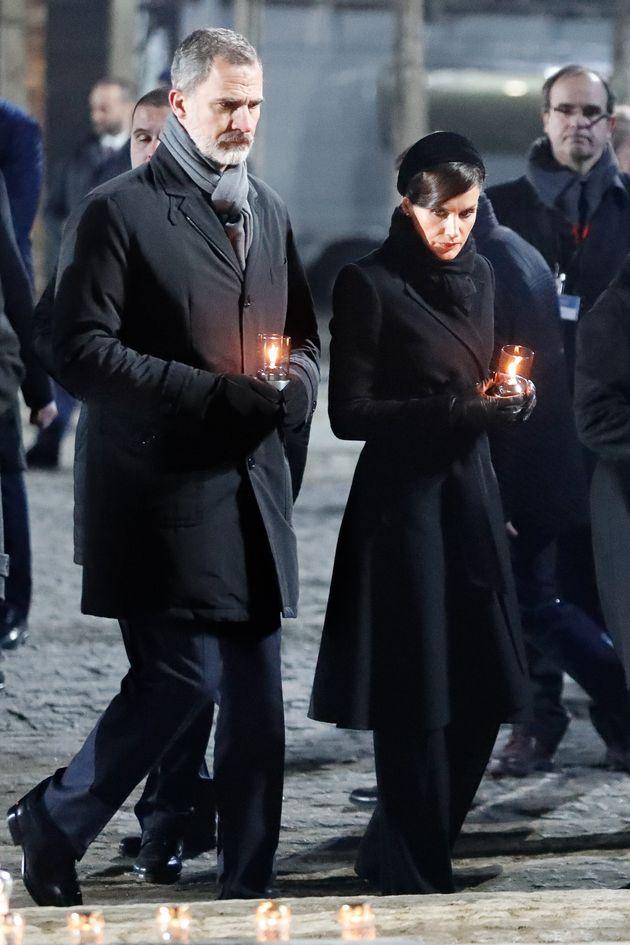 Los reyes Felipe y Letizia en el 75º aniversario de la liberación de