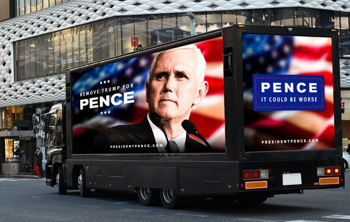 Republicans for the Rule of Law said a truck with anti-Trump messages, like the one mocked up in this supplied image, will be