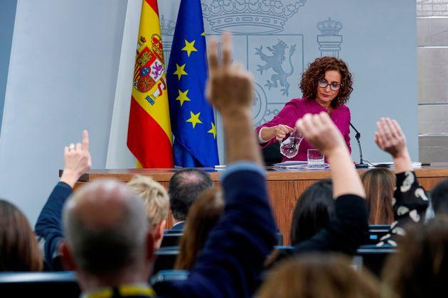 María Jesús Montero, en la rueda de prensa tras el Consejo de