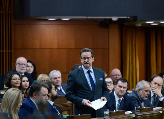 Bloc Quebecois leader Yves-Francois Blanchet asks a question in the House of Commons on Dec. 11,
