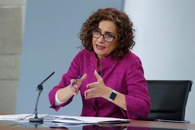 La ministra portavoz del Gobierno, María Jesús