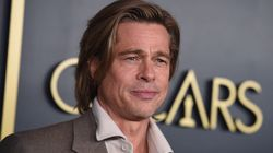 Brad Pitt Wears Nametag At Oscars Luncheon And Twitter