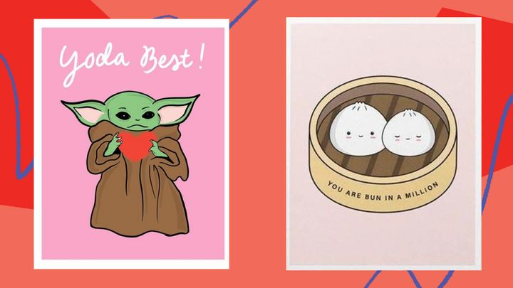Remind your S.O. why they have such strong felines for you with these punny Valentine's Day cards from Etsy.