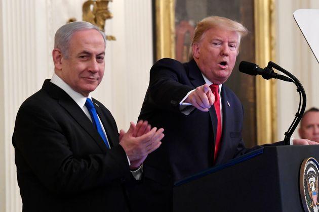 Le président américain Donald Trump et le premier ministre israélienBenjamin