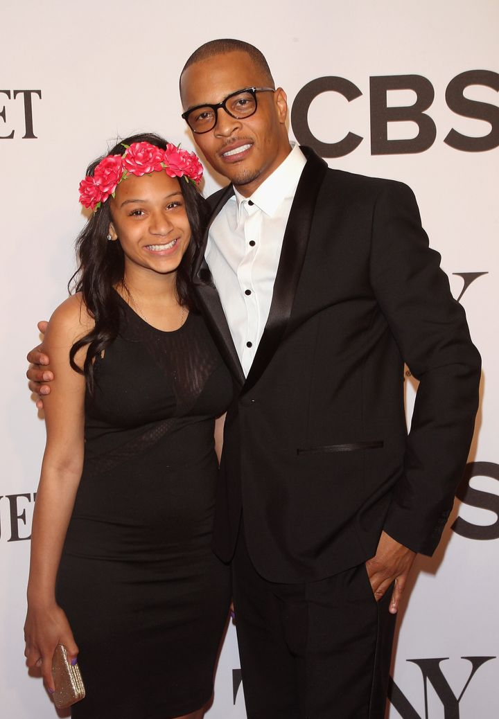 Deyjah Imani Harris (left) and T.I. attend American Theatre Wing's 68th Annual Tony Awards at Radio City Music Hall on June 8