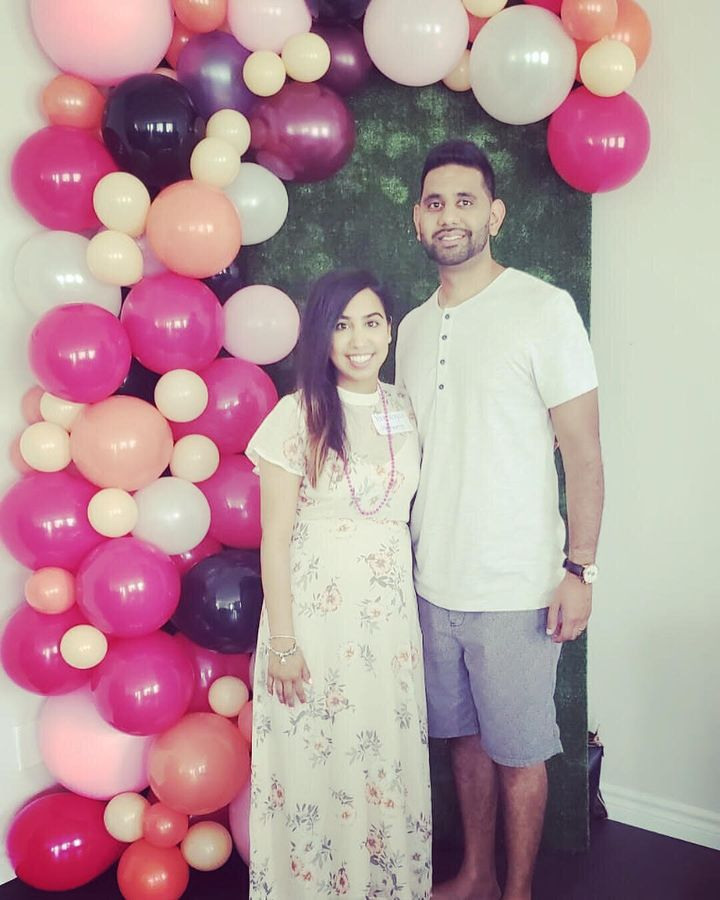 Poonam Patel, 33, and her husband Ankoor. They live in a multi-generational home, with Ankoor's parents, his grandmother, and their fifteen-month-old daughter in Ottawa.