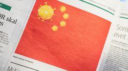 新型コロナウイルスが中国国旗になったイラストをデンマーク紙が掲載 ⇒