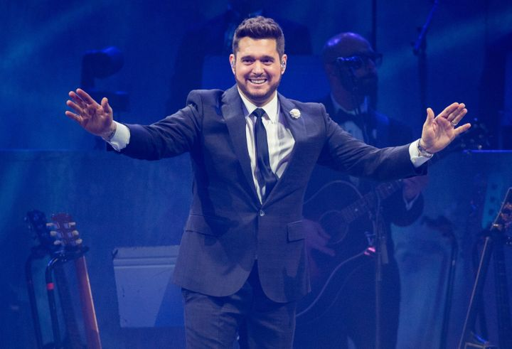 Michael Buble performs at The O2 Arena on Dec. 9 2019 in London, United Kingdom.