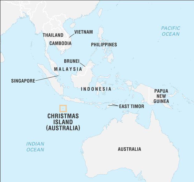 クリスマス島の位置