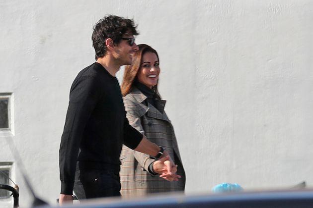 Lara Álvarez y Andrés Velencoso, fotografiados el 30 de noviembre en Tossa de