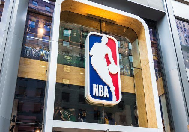 La devanture du NBA Store à New