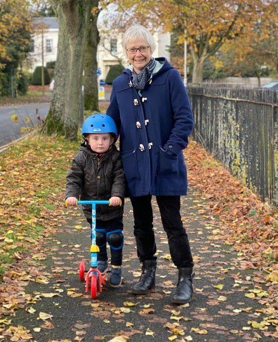 """Susan Wakeford with her grandson: """"I feel physically and mentally great."""""""