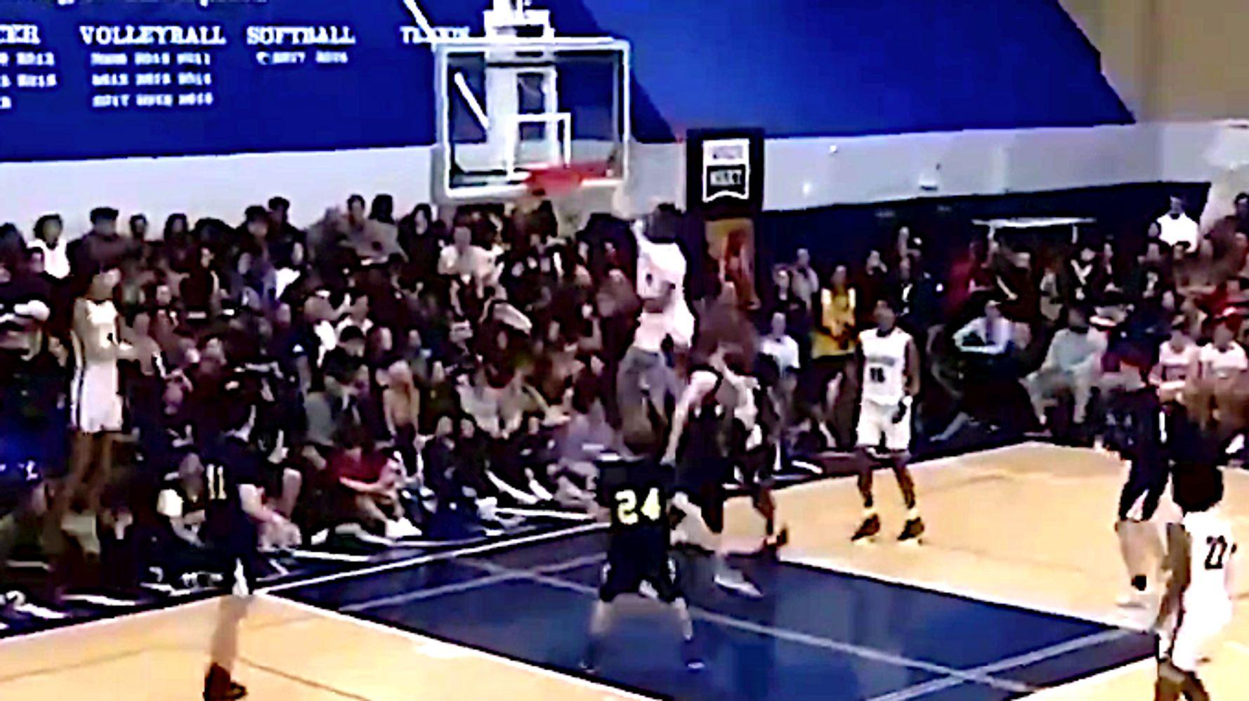 Lebron James Jr S Incredible Dunk Highlights Kobe Bryant Tribute Game Huffpost