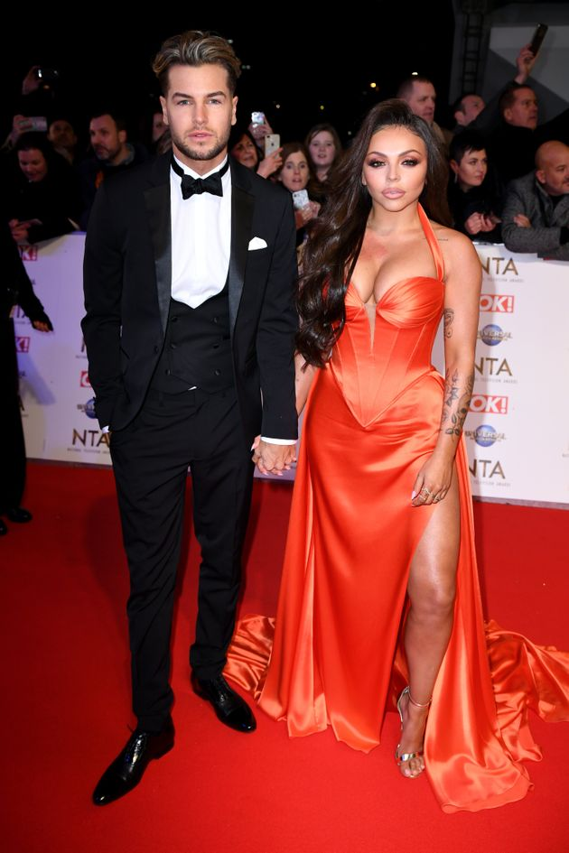 Chris had been supporting girlfriend Jesy Nelson at the