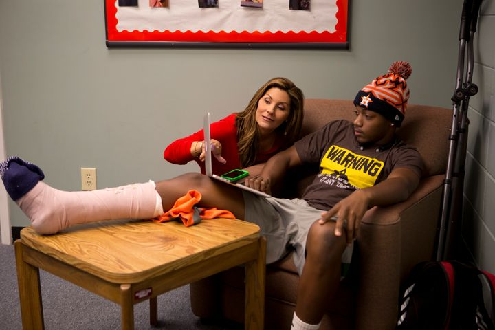 """Brittany Wagner and Malik Mayweather in """"Last Chance U."""""""