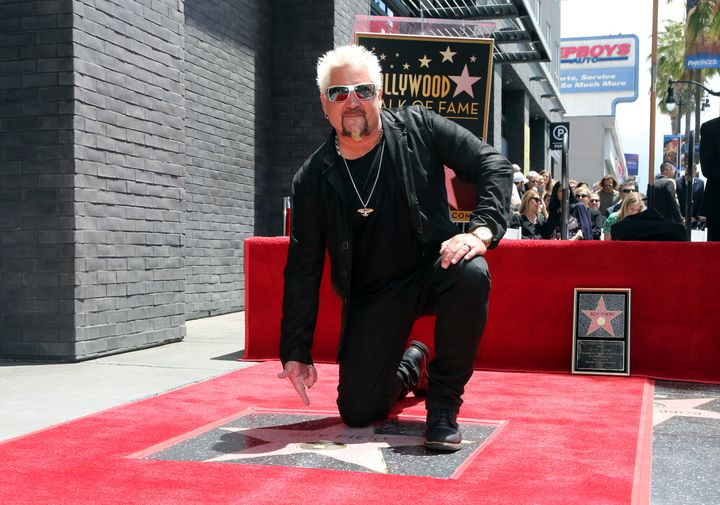 Guy Fieri has become so famous that he earned a star on the Hollywood Walk of Fame on May 22, 2019, in Los Angeles.
