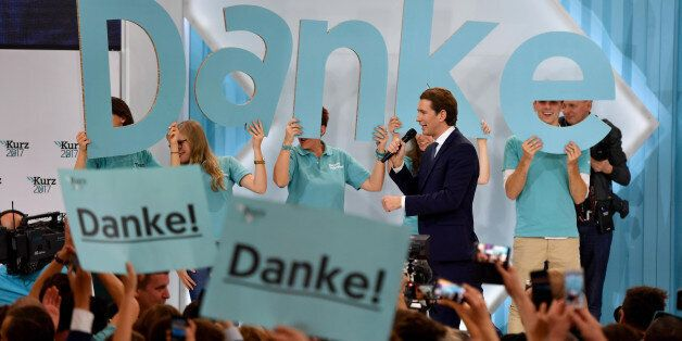 Austria's Foreign Minister and leader of Austria's centre-right People's Party (OeVP) Sebastian Kurz...