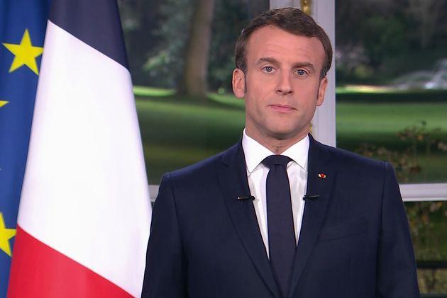 Emmanuel Macron lors de ses vœux aux Français, le 31 décembre