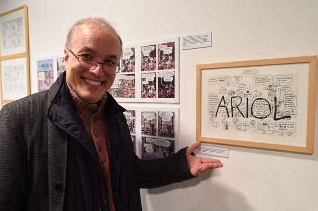 Le dessinateur Emmanuel Guibert, ici en janvier 2018, a remporté le Grand prix du festival d'Angoulême