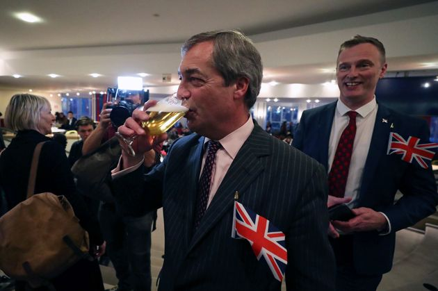 Así celebraba Nigel Farage el