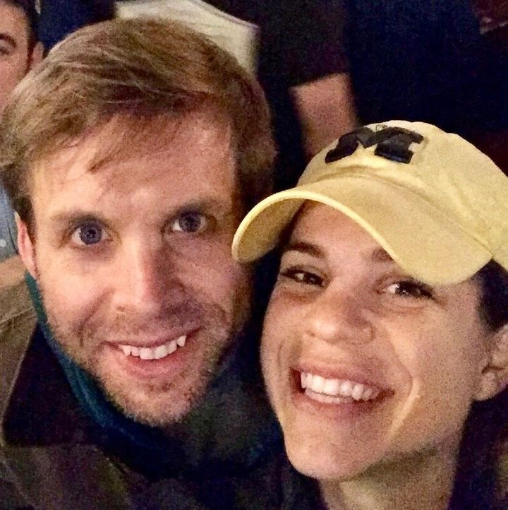 Kaylie Hanson Long (right) with her late husband, Jeff, in 2018.